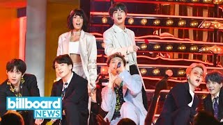 BTS Perform 'Boy With Luv' With Halsey at 2019 BBMAs | Billboard News