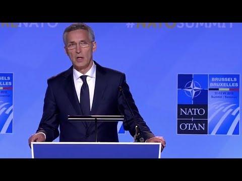 DIREKTE: Jens Stoltenberg møter pressen etter NATO-toppmøte