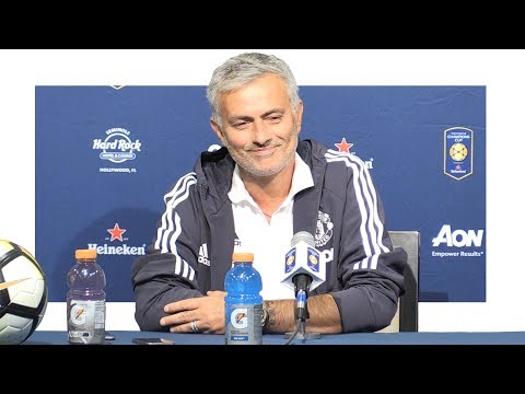 Real Madrid 1-1 Man Utd (1-2 Pens) - Jose Mourinho Post Match Press Conference - Man Utd Tour 2017 (видео)