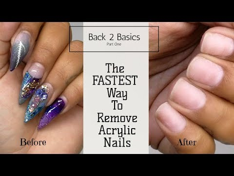 How to - Soak Off Acrylic Nails