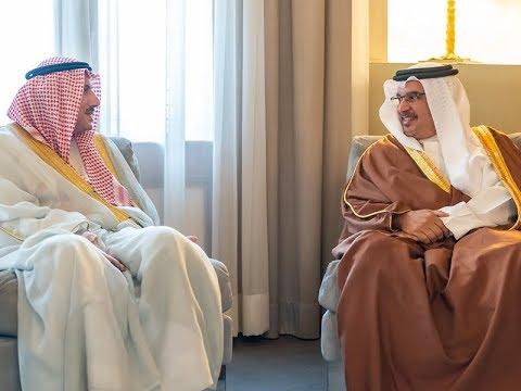 HRH the Crown Prince receives outgoing Kuwaiti Ambassador to Bahrain