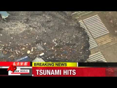 Raw Video: Tsunami Slams Northeast Japan