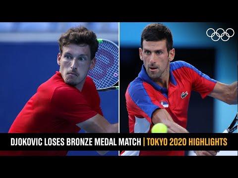 Carreno-Busta beats Djokovic 🎾 | #Tokyo2020 Highlights