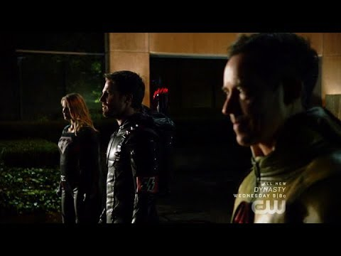 Arrow | Crisis on Earth-X | Dark Arrow, Overgirl & Reverse Flash Reveal Themselves to Earth 1 Heroes