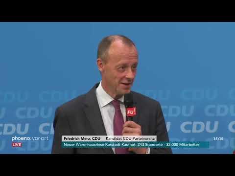 Statements der Kandidaten für den CDU-Parteivorsitz bei der Frauen-Union am 09.11.18