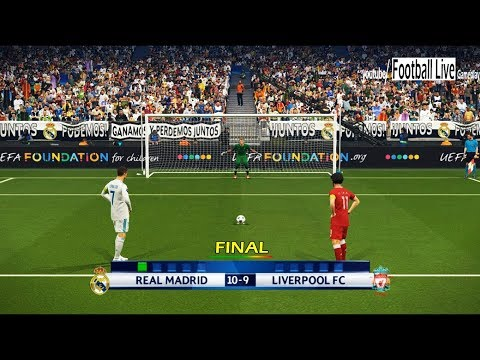 PES 2018 | Real Madrid Vs Liverpool | Final UEFA Champions League (UCL) | Penalty Shootout