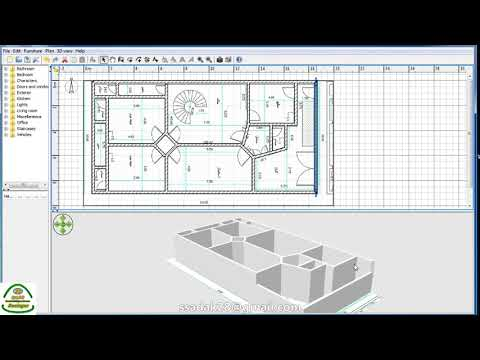 Sweet Home 3D شرح عمل اي خارطة ثري دي بسهولة بواسطة برامج