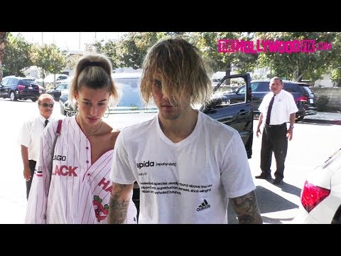 Justin Bieber & Hailey Baldwin Are Asked About Selena Gomez's Health At Joan's On Third 10.12.18