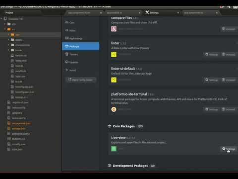 hide and show Atom files