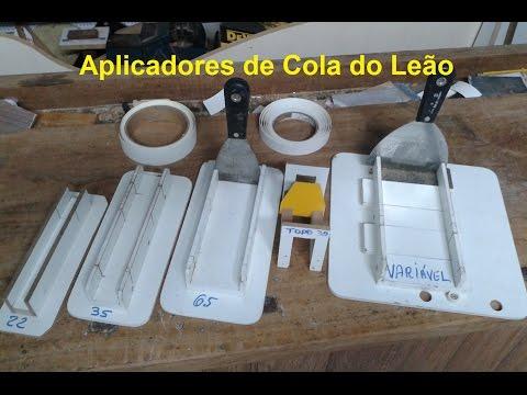 Novo Aplicador de Cola de Contato / Coladeira de Fita de Borda Feito de MDF. Fixos e Variável