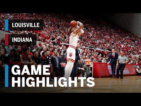Highlights: Louisville at Indiana | Big Ten Basketball