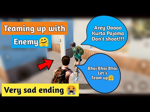 Teaming Up With Enemy (Indian🇮🇳) But Very Sad Ending 😭 In Pubg Mobile | Pubg Mobile Hindi