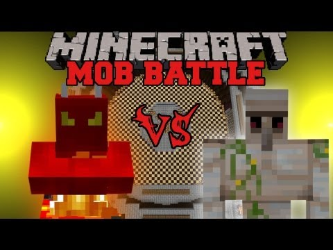 Iron Golem Vs. Fire Demon - Minecraft Mob Battles - Legendary Beasts Mod
