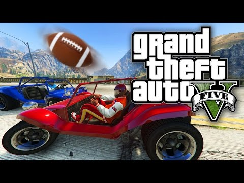 GTA 5 Online - SKY DODGEBALL, CAR FOOTBALL & 1V1'S! (GTA V Online)