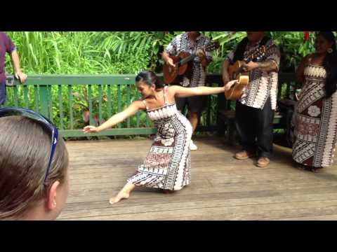 Hawaii - April 21, 2013. Hawaiian Wedding Song and graceful dance ...