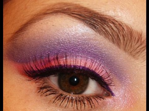 Sheer Miracle Mineral Makeup : Purple & Pink Eye Shadow Tutorial