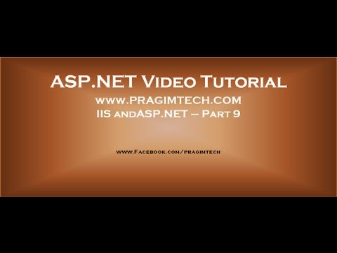 how to enable asp.net in iis