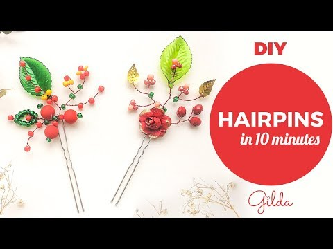 Two DIY Hairpins in 10 Minutes for Your Kids. Baby Hair Accessories and Gift Ideas.