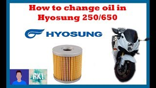 10. How to change Hyosung GT 250R oil and oil filter