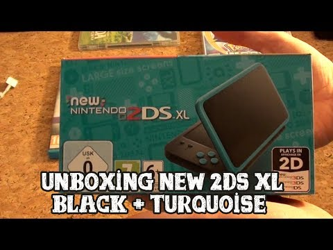[Unboxing] New Nintendo 2DS XL Black + Turquoise