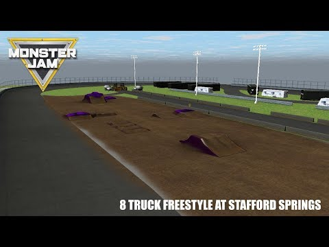 Rigs of Rods Monster Jam: 8 Truck Freestyle at Stafford Springs, CT 2017!