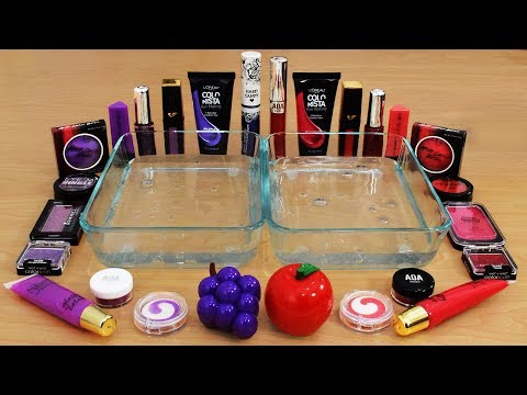 Mixing Makeup Eyeshadow Into Slime ! Purple vs Red Special Series Part 29 Satisfying Slime Video
