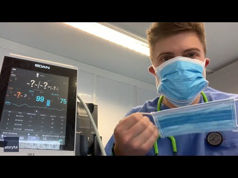 COVID19 Doctor wears six face masks to debunk oxygen deprivation
