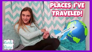"""I share all of the places I have traveled to in my lifetime so far.  Question for you...what is your favorite place you have traveled?Winners of the Ivory Ella giveaway please email my mom at mail@ourfamilynst.com with your address. Thanks & Congrats!OUR FAMILY NEST TRAVEL VLOGS = http://bit.ly/1La55xv♥  SUBSCRIBE!   http://bit.do/karlireeseI post new videos every Friday!Watch my last video - https://youtu.be/WIYtWm2X-A01 Year Ago - https://youtu.be/bXysI4MeJl0Daily videos at my Our Family Nest - http://youtube.com/ourfamilynestMy Mom's Channel - http://bit.ly/2ffeAACMy Dad's Channel - http://bit.ly/2gh00roAndrew's Channel - I am Drew -  http://youtube.com/iamdrew95♥ FOLLOW ME ♥i  n  s  t  a  g  r  a  mhttp://instagram.com/karlireeset  w  i  t  t  e  rhttp://twitter.com/karlireesem u s i c a l y . l y24_karkar_24f  a  c  e  b  o  o  k http://facebook.com/iamkarlireeseb  l  o  g   http://karlireese.com*************************************************************♥ BUSINESS INQUIRIES ♥mail@ourfamilynest.com - Subject Line """"KarliReese""""*************************************************************Thank you for watching my video today! You can also find me on our family's channel - Our Family Nest.  On my channel you will find more of what I love... shopping, crafts, dance, gymnastics, and my pets…Pretty much anything girly! Thank you for stopping by and I hope you have fun here on my channel.Note... My YouTube channel is monitored and ran by my parents :)♥ Karli ReeseSome Music in videos by Epidemic Sound - http://www.epidemicsound.com"""