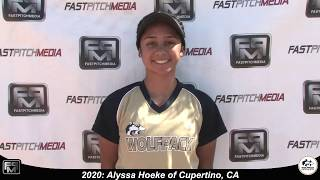 2020 Alyssa Hoeke Outfield and Middle infield Softball Skills Video