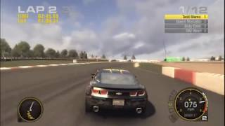 GRID Racing In Game Demo For PC With The 2010 Camaro