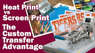 Did you know you can offer screen printing without buying art programs, messy ink, dryers and screens? All you need is a heat press. In this video, we will s...
