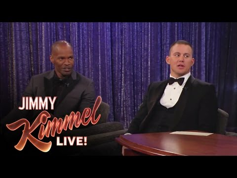 Channing Tatum - Jimmy Kimmel Live - The first part of Jimmy's interview with Channing Tatum and Jamie Foxx after the Oscars Jimmy Kimmel Live's YouTube channel features clip...