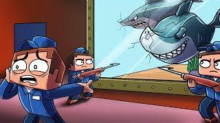 Minecraft - SECURE SHARK TANK CHALLENGE! (Sharks vs Secure Fort)