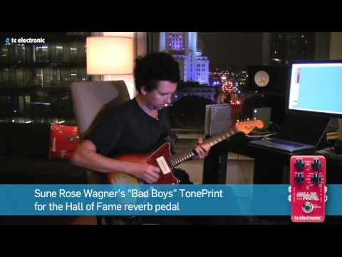 "Sune Rose Wagner (The Raveonettes) demoes his ""Bad Boys"" Reverb TonePrint (DK Version)"