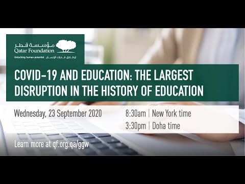#UNGA2020 | #COVID19 and Education: The largest disruption in the history of education