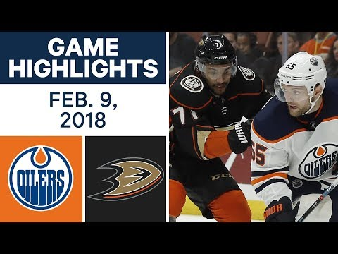 Video: NHL Game Highlights | Oilers vs. Ducks - Feb. 9, 2018
