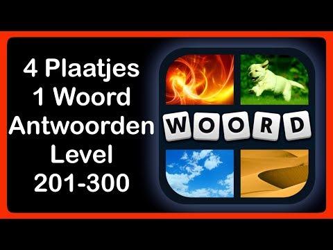 4 Plaatjes 1 Woord  - Level 201-300 - Antwoorden - Oplossingen