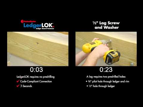 "LedgerLOK vs. 1/2"" Lag Screws"