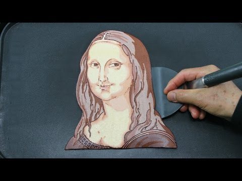 Mona Lisa Pancake Art