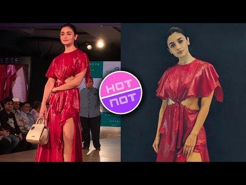 Alia Bhatt Walks The Ramp In RED HOT Dress For Cap