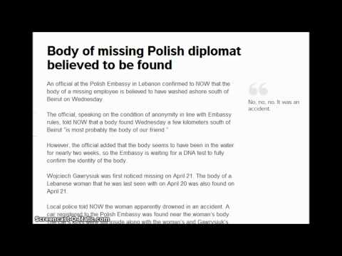 drowned woman - Body of missing Polish diplomat believed to be found. https://now.mmedia.me/lb/en/nownews/body-of-missing-polish-diplomat-believed-to-be-found