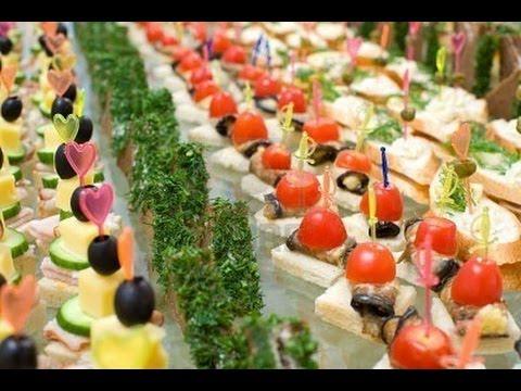 Праздничные красивые мини закуски на шпашках фото