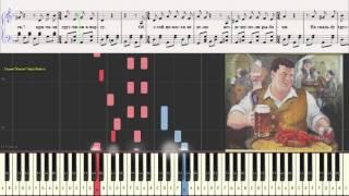Шаланды полные кефали... (Ноты для фортепиано) (piano cover)