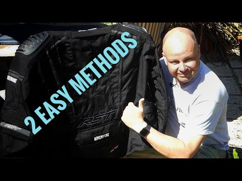 How to clean your textile motorcycle kit
