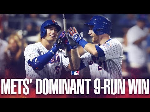 Video: Mets score 9 on 11 hits on emotional day in NYC