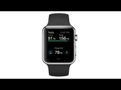 Apple Watch Tesla Car app screencast by ELEKS (unofficial)