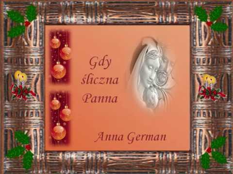 Tekst piosenki Anna German - Gdy śliczna Panna po polsku