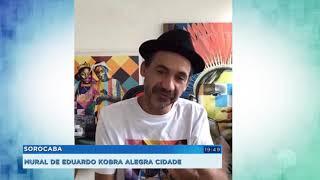 Mural do artista Kobra destaca a importância da leitura em Sorocaba