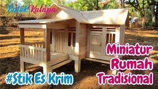 Video Crafts Ice Cream Sticks | How to Make a Miniature Traditional House West Java MP3, 3GP, MP4, WEBM, AVI, FLV Juni 2018