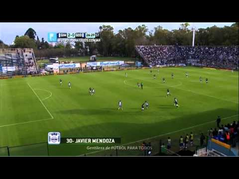 Gol Mendoza. Gimnasia LP 2 – Godoy Cruz 0. Fecha 5. Primera División. FPT.